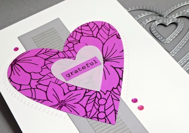 94361 Double Stitch Happy Heart Cut Out craft die