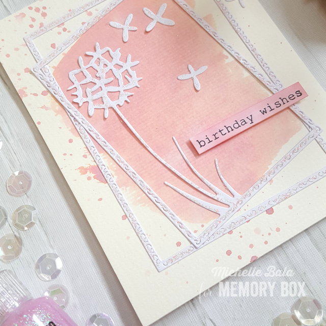 CL5251 Birthday Rose Corner clear stamp set
