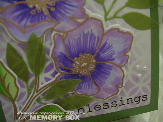 Easter violet flower detail