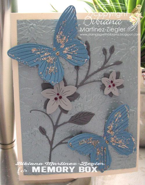 Blue butterflies front