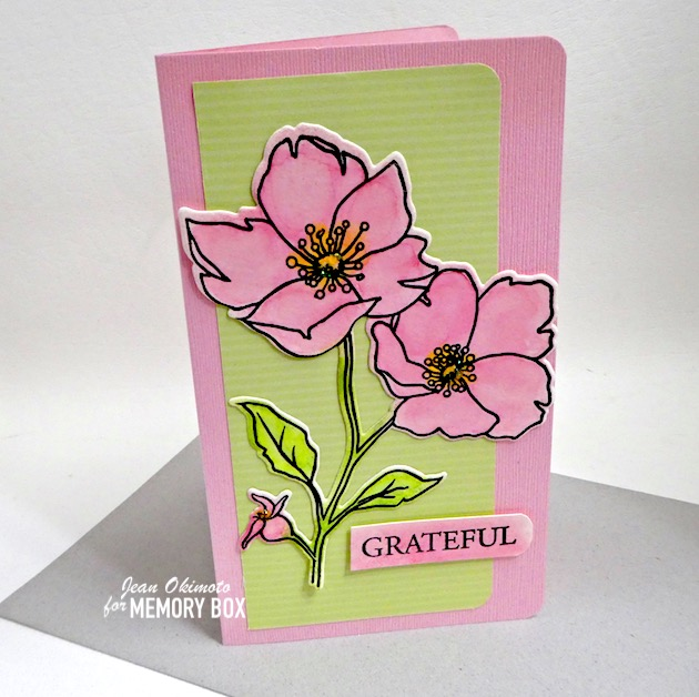 CL5258-D Wild Rose Stem clear stamp and die set
