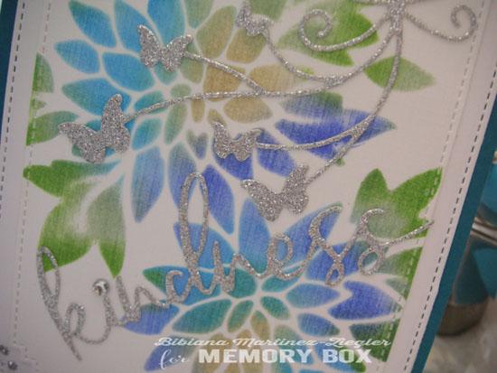 Kindness stencil silver detail