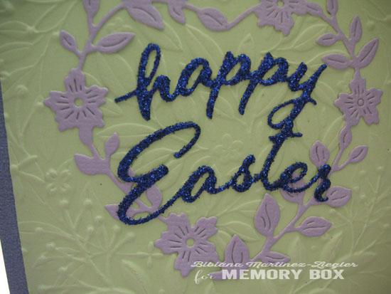 Easter blue heart detail