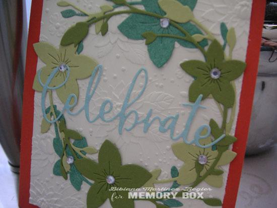 Celebrate wreath detail