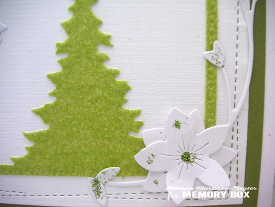 Fuzzy green tree detail