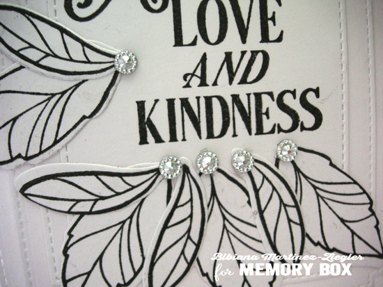 Kindness white detail