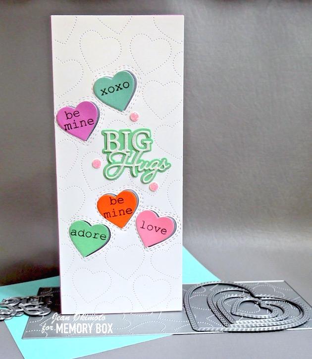 94528 Big Hugs Posh Script craft die