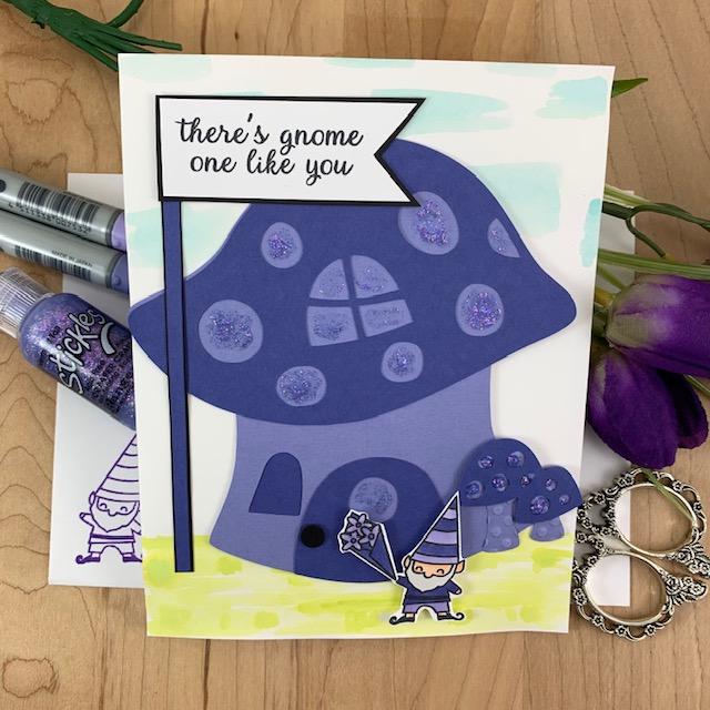 Purple Gnome Card