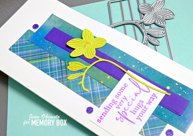 MemoryBoxSlimBasicRectangleLayers, MemoryBoxDreamyFreesia, MemoryBoxAllTheHappinessClearStampandDieSet, MemoryBoxMadrasPlaidBlueAndViolet6x6, MemoryBoxLushGreenCollection, MemoryBoxTwilightPurpleCollection, MemoryBoxFrostedGlitterPack, MemoryBoxOpenStudioGlitterGlue, MemoryBox2021SpringCollection,MemoryBoxCo, JeanOkimoto, DiecutFlowers, PlaidCards, SlimlineCards, RadiantNeons, ImpressCardsAndCrafts, StampsAndMemoriesHawaii