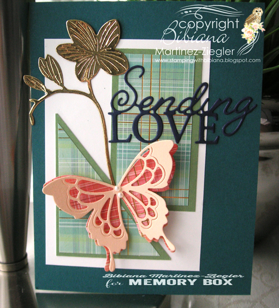 Butterfly papers sending love front