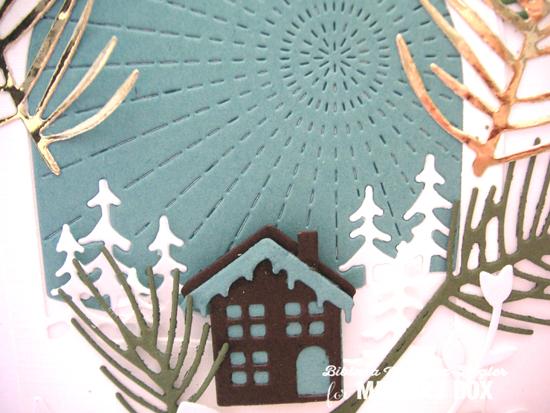 Brown house sun scene detail