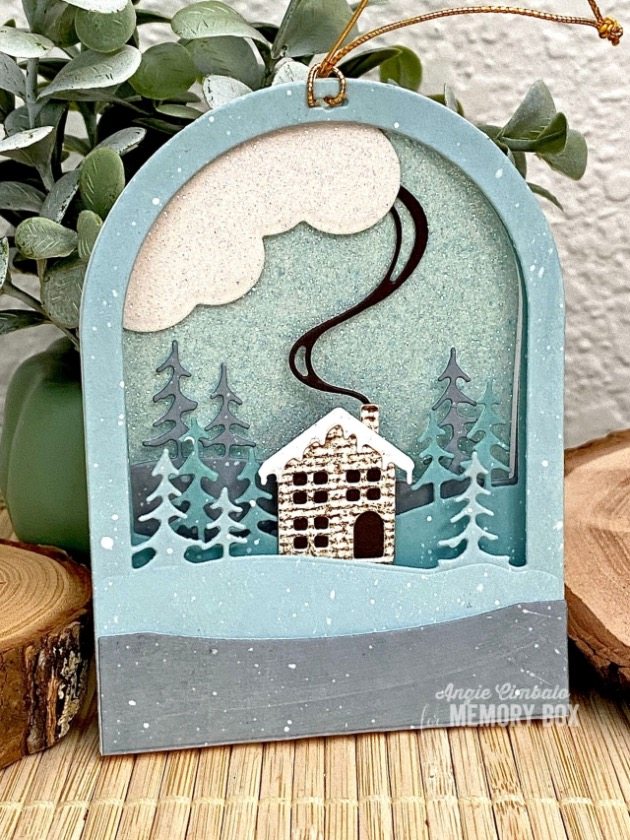 3-D Snowglobes & Glitter Paper by Angie Cimbalo - Outside The Box