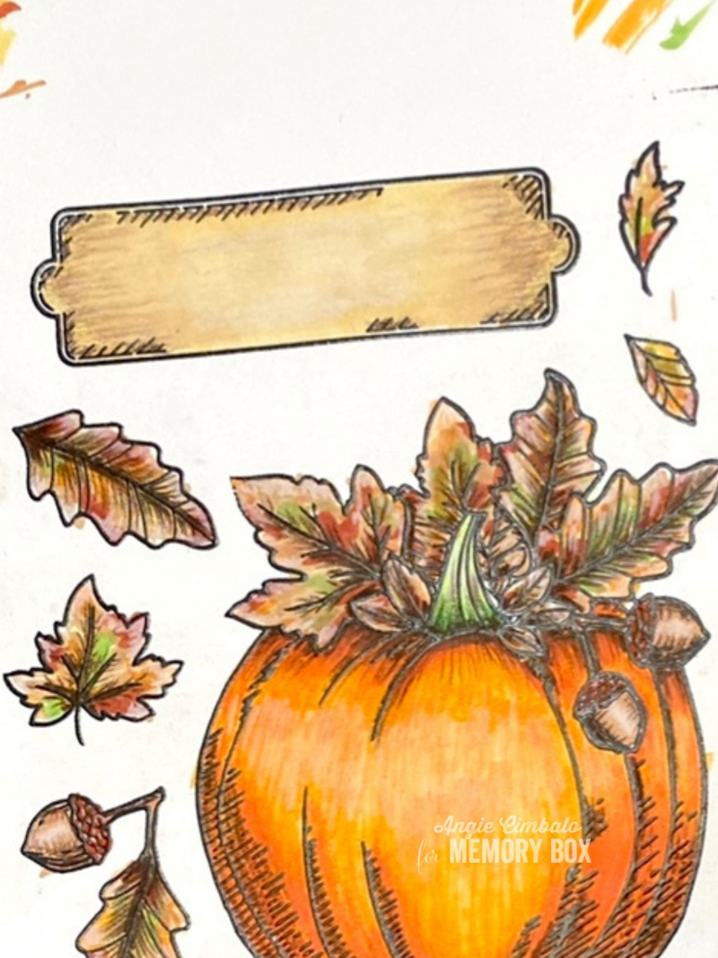 Coloring the pumpkin card