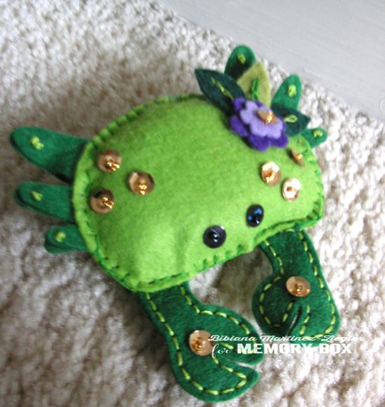Crab green detail