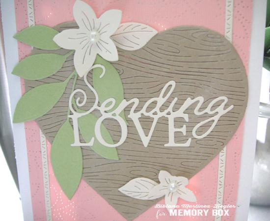 Val pink sending love detail