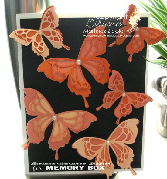 Orange butterflies front