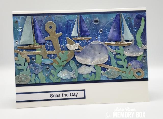 CL5268 Deep Blue Ocean clear stamp set
