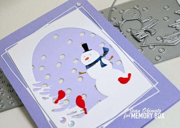 MemoryBoxOvalSnowmanCollage, MemoryBoxSlimConfettiPlate, MemoryBoxStylishRectangleTrio, MemoryBoxRestingBirds, MemoryBoxStormyBlue6x6Pack, MemoryBoxWoodsyPlaid6x6, MemoryBoxDelicatePastelGlitterPad, MemoryBoxYuletideMoments, MemoryBoxWinterFantasyFairyGemstones, JeanOkimoto, CollageCards, SnowmanCards, ChristmasDiecuts, SnowmanDiecuts, HandmadeChristmasCards, ImpressCardsAndCrafts, StampsAndMemoriesHawaii
