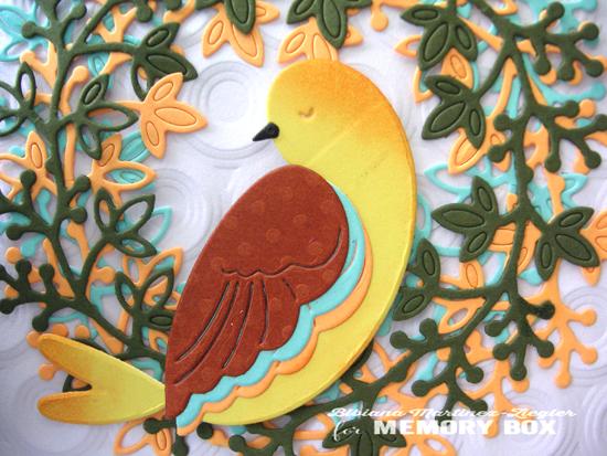 Bird wreath detail