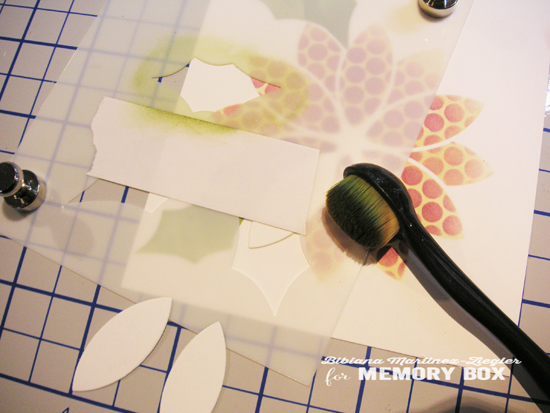 Stencil poinsettia step 2