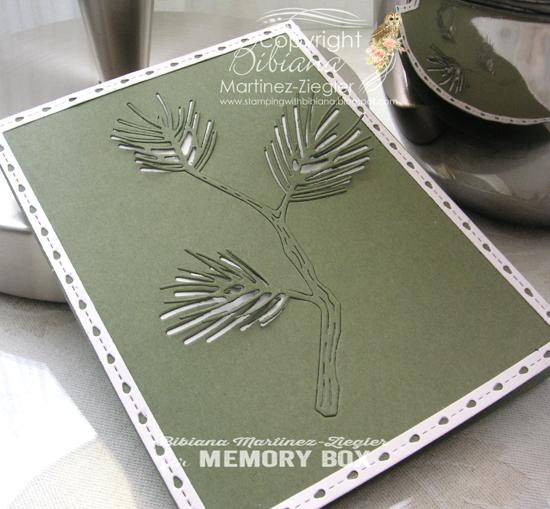 Green pine cas detail