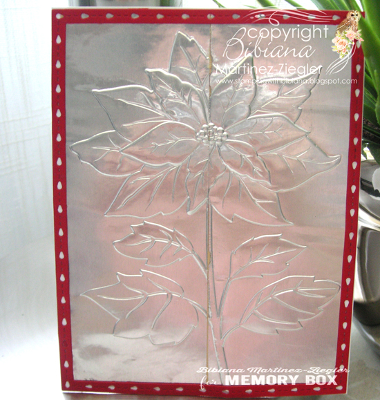EF1011 Magnificent Poinsettia 3D Embossing Folder