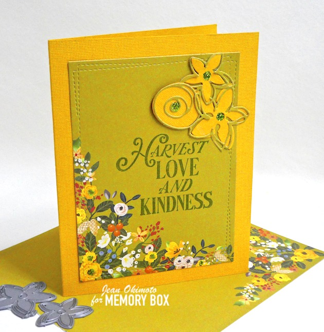CL5262-D Harvest Love and Kindness clear stamp and die set