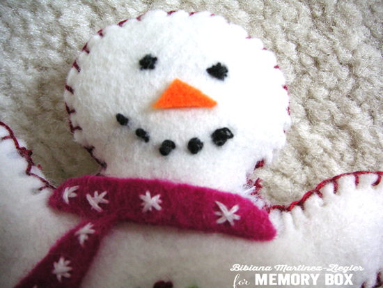 Snowman felt head