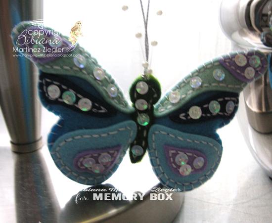 Felt blue butterfly last