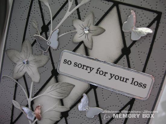 Sympathy flower diamond detail