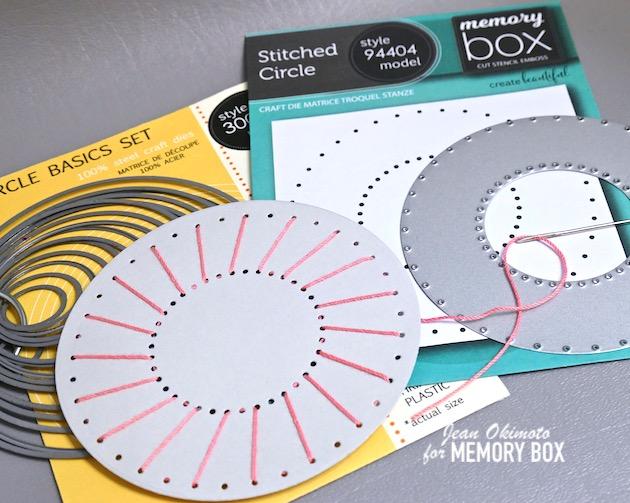 MemoryBoxStitchedCircle, MemoryBoxCircleBasics, StitchDiecuts, StitchedCards, JeanOkimoto, MemoryBoxCo