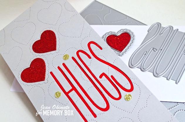 MemoryBoxScallopPinpointLovingHeartCutOut, MemoryBoxTwiggyHugs, MemoryBoxSlimPinpointHeartPlate, MemoryBoxHolidayGlitterPad, MemoryBoxCo, HeartCards, ValentineDiecuts, JeanOkimoto, ImpressCardsAndCrafts, StampsAndMemoriesHawaii