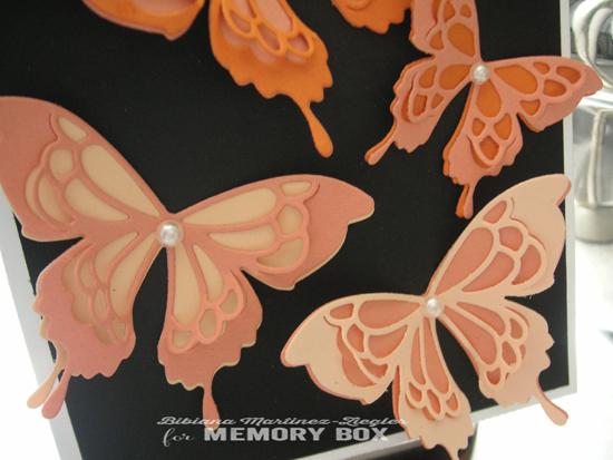 Orange butterflies detail
