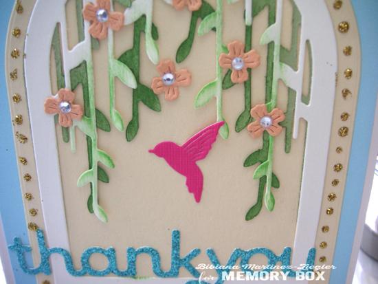 Hummingbird arch detail