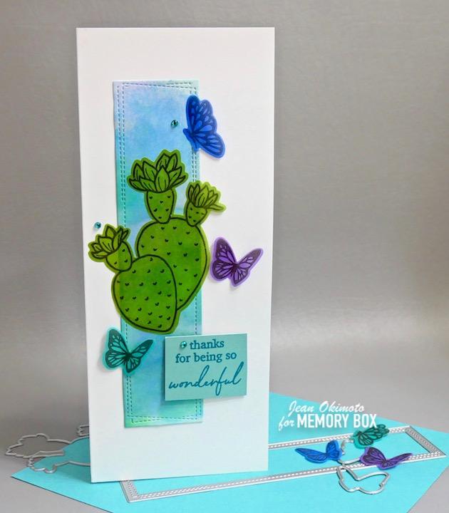 CL5271D Flowering Cactus clear stamp and die set