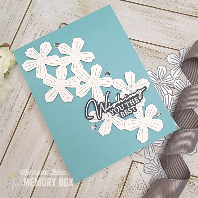 CL5272D Signature Greetings clear stamp and die set