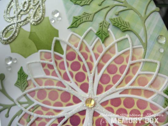 Stencil poisettia detail flower