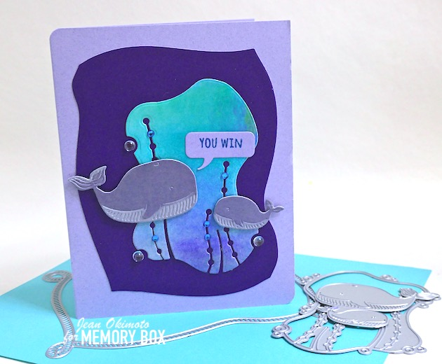94573 Whale Family craft die