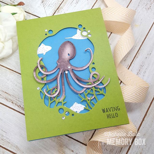 94571 Deep Sea Octopus craft die