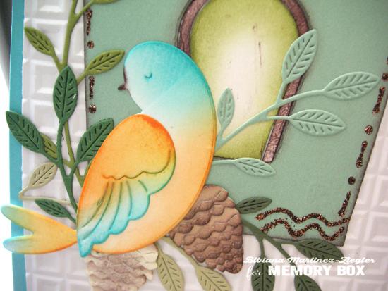 Bird house detail